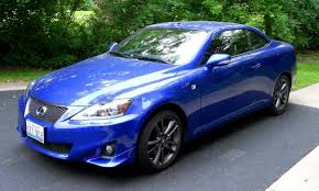 sporty lexus blue road test review 2014 lexus is250c f sport is top down