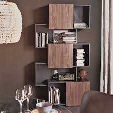 Modern Bookcases With Doors Decorating Modern Cube Bookshelf Modern Steel Bookcase