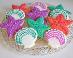seashell shaped cookies bbq cookies etsy