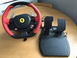 thrustmaster 458 xbox one thrustmaster 458 spider racing steering wheel and pedals