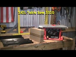 skil portable table saw table saw review skil 3310 youtube