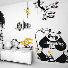 stickers panda chambre bébé stickers enfants décoration murale pour chambre enfant par e glue