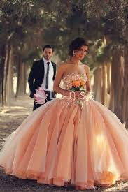 wedding dressed custom made blush pink colored strapless sequins wedding dress