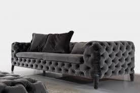 elegant black modern fabric sofas chesterfield soft furniture