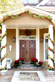 Front Doors Decorated For Christmas by Breathtaking Front Porch Christmas Decorating Ideas Pictures Ideas