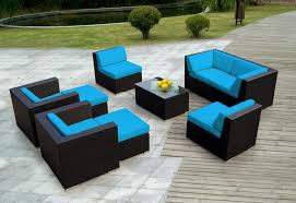 Outdoor Resin Wicker Patio Furniture by Luxury Resin Wicker Patio Furniture Sets With Blue Wicker Patio