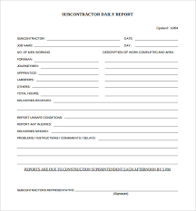 daily construction report template u2013 25 free word pdf documents