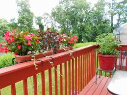 deck railing planters usa garden inspirations including rail