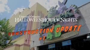 2017 halloween horror nights map halloween horror nights 26 construction update 1 youtube