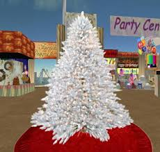 second marketplace white tree with flickering