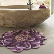 Habidecor Bath Rugs Abyss Habidecor Fiore Purple Floral Bath Rug