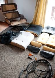 Diy Lounge Chair Eames Era Lounge Chair Diy Upholstery Old Made New