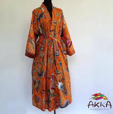 kimono robe de chambre kimono robe de chambre orange et multicolore à dessins paisley