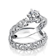 vintage rings wedding images 925 silver vintage 75ct round cz engagement wedding ring set jpg
