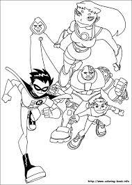 titans coloring picture