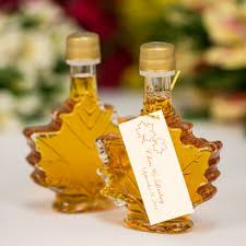 maple syrup wedding favors of 24 50ml maple leaf glass