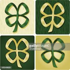 shamrock ribbon shamrock ribbon vector getty images
