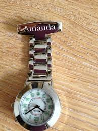 engraved nurses fob watch with back light gift boxed christmas