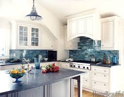 backsplashes for kitchens backsplashes for kitchen back splashes with blue showcase on