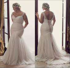 new simple plus size mermaid wedding dresses 2016 fitted