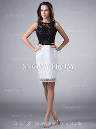 open back white black knee length lace fitted sleeveless party