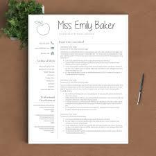 Teacher Resume Template Teacher Resume Template The Emily
