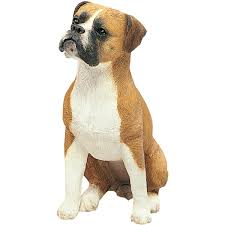 boxer dog yard art amazon com sandicast fawn boxer with uncropped ears sculpture