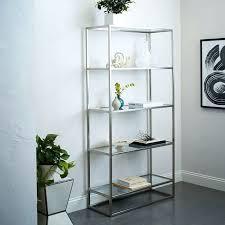 office bookshelves designs bookcase bookshelf with glass shelves divider shaped chrome