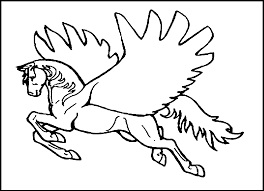 coloring pages kids pegasus printable coloring pages printing