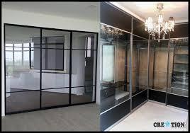 closet glass doors creation sg pole system closet walk in wardrobe sliding glass door