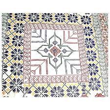 nakshi kantha new shop bd made cotton nakshi kantha yellow buy online