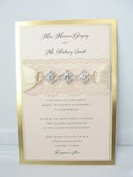 wedding invitations orlando lace and gliitter wedding invites
