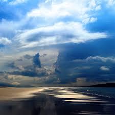 ocean explore wallpapers sea ocean evening beach sand sky clouds retina ipad air