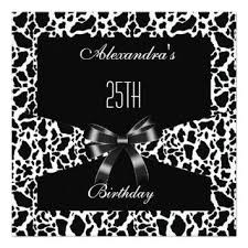 free black and white birthday invitations design drevio