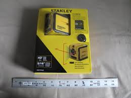 1 new stanley cubix cross line laser self leveling 40 u0027 range