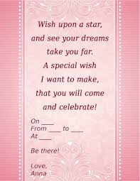 informal invitation birthday party sweet 16 invitation wordings that are awesome and actually useful