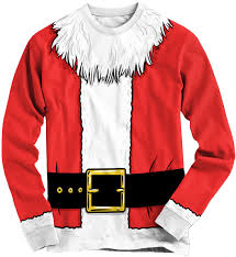 crazy tshirts santa suit ugly christmas sweater long sleeve