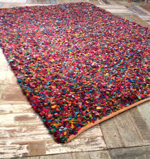 Pottery Barn Rugs Ebay by Fair Trade Recycled Multi Coloured Thick Tufted Cotton Rag Rug