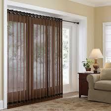 Sliding Door Sheers Cream Privacy Sheer For White Framed Curtains