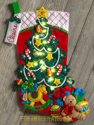 bucilla kits bucilla christmas tree 18 felt kit 86710