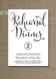 bridal dinner invitations white rehearsal dinner invitation in a simple gorgeous