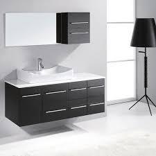 adelina 54 inch contemporary style bathroom vanity cream marble