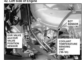 tcs light honda odyssey 2002 solved location and replacement of egr valve on honda ody fixya