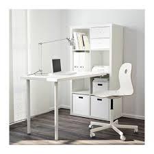 Ikea Desk Attachment Kallax Workstation Black Brown Ikea