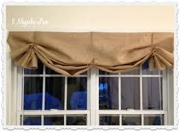 Valances Com Tutorial How To Make A No Sew Diy Burlap Window Valance 11