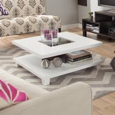 white parson coffee table design and specifications