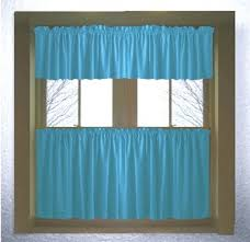 Cafe Style Curtains Turquoise Colored Café Style Curtain Includes 2 Valances And 2