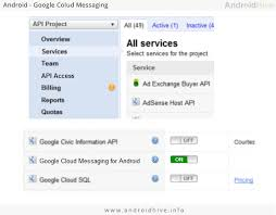 android gcm android how to create api key for gcm stack overflow