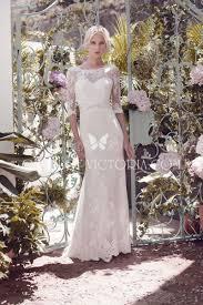 illusion scalloped neck half sleeved lace sheath wedding dress