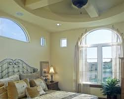 Traditional Nightstands Austin Arched Window Treatments Bedroom Mediterranean With Sheers